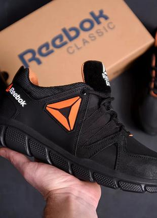 Мужские кожаные кроссовки Reebok Classic Tracking Orange