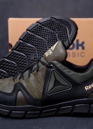 Мужские кожаные кроссовки Reebok Classic Tracking  Green