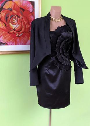 ❤️платье ➕жакет ❤️ черное вечернее пиджак