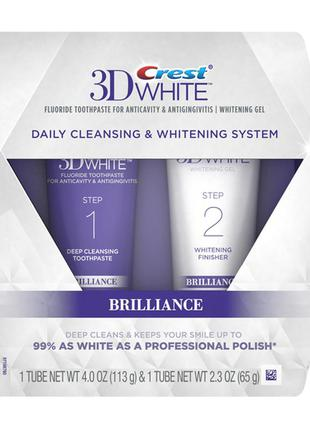 Двухуровневое отбеливание зубов crest 3d white brilliance