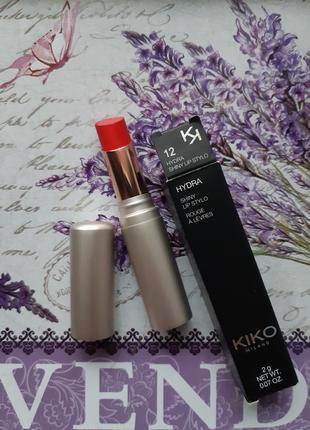 Hydra shiny lip stylo kiko milano увлажняющая помада #12!!