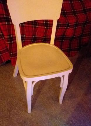 Деревянный ретро стул Венский крашенное в белый цвет