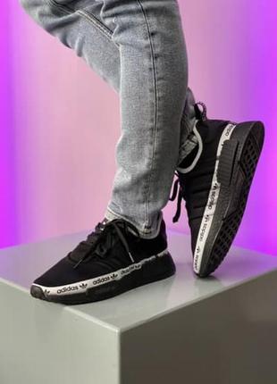 Мужские кроссовки adidas черного цвета