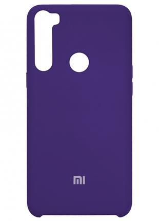 Накладка Silicone Cover for Xiaomi Redmi Note 8 Purple
