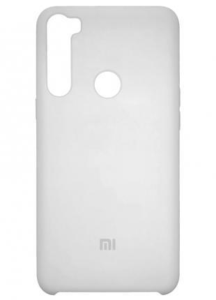 Накладка Silicone Cover for Xiaomi Redmi Note 8 White