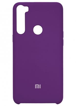 Накладка Silicone Cover for Xiaomi Redmi Note 8 Violet