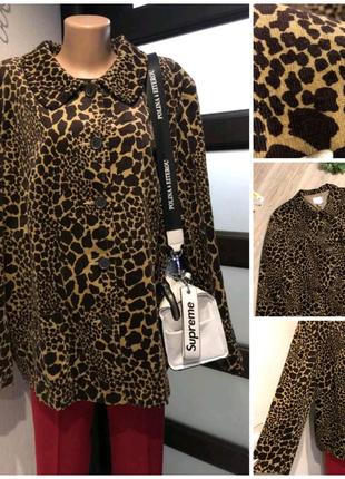 Мягкий леопардовый пиджак жакет кардиган