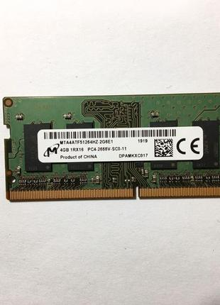 Оперативная память для ноутбука MICRON SO-DIMM DDR4 2666MHz 4GB