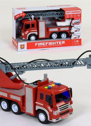 Пожарная машина с водяной помпой WY 351 В брызгает водой, свет, з