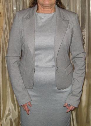 Базовый трикотажный пиджак на контрастной подкладке, сезон вес...