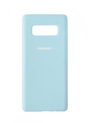 Накладка Silicone Cover for Samsung Note 8 Lilac Cream