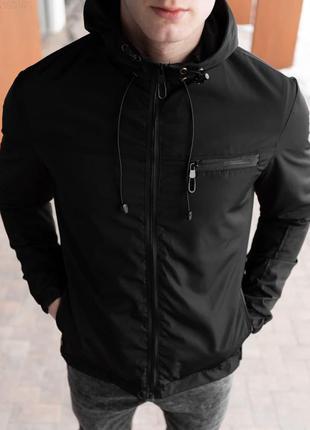 Куртка мужская демисезонная черная / куртка чоловіча демісезон...