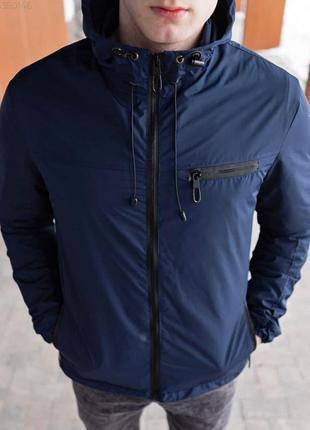 Куртка мужская демисезонная синяя / куртка чоловіча демісезонн...