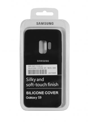 Накладка Silicone Cover for Samsung S9 Black