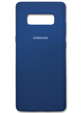 Накладка Silicone Cover for Samsung Note 8 Blue