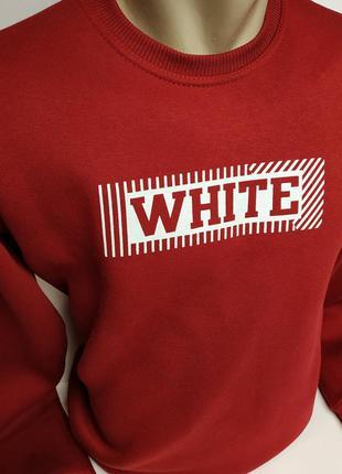 Новая крутая кофта off white. хлопок, два цвета.