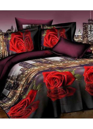"""Комплект постельного белья """" розы и город"""""""