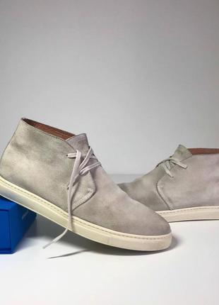 Оригинальные замшевые ботинки дезерты selected homme