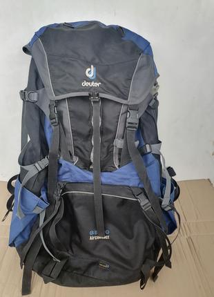 Рюкзак Deuter AirContact 65+10 синий туристический