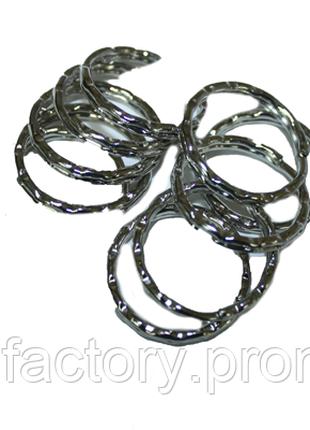 Колечки/основы для ключей и брелоков 28мм (усиленные/рифленые)