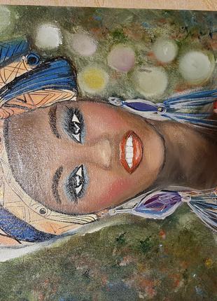 """Продам авторскую картину""""Леди Африка"""""""