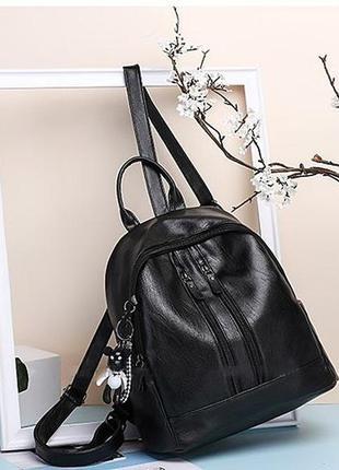 Рюкзак женский эко кожа черный