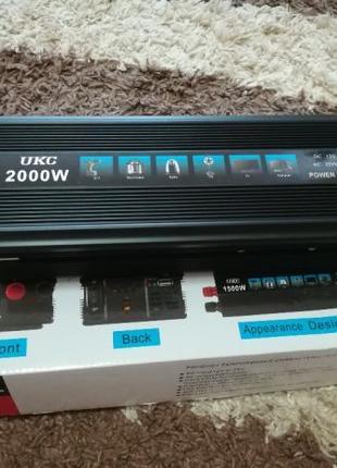 Преобразователь AC/DC 2000W SSK UKC / автомобильный преобразов...