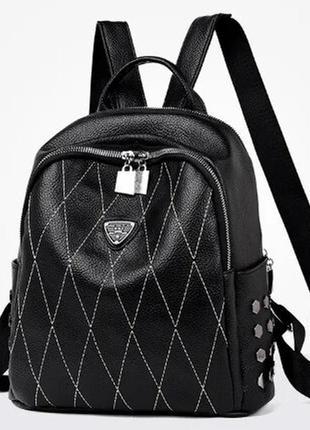 Рюкзак женский ромб черный