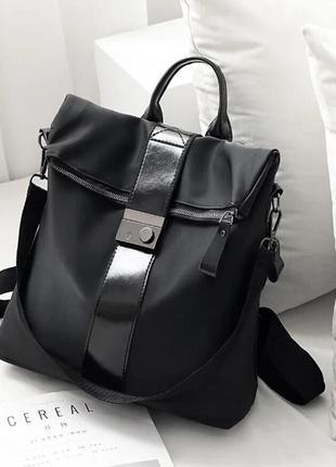 Женский сумка рюкзак черный