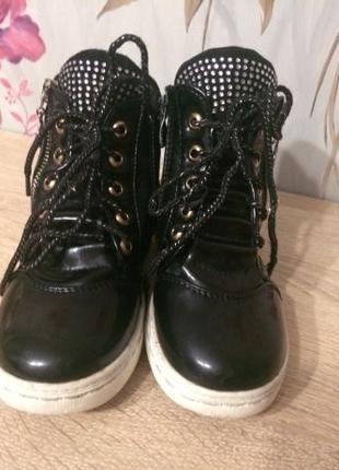Ботинки сапожки осень демисезон обувь слипоны сникерсы