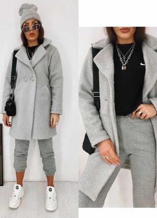 Пальто букле, 2 цвета