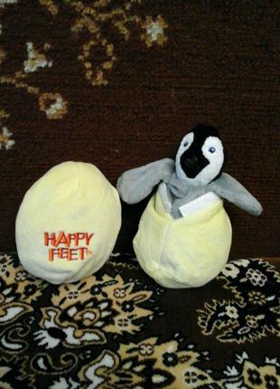Мягка игрушка пингвин превращается в яйцо