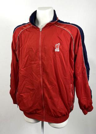 Куртка ветровка спортивная liverpool, красная