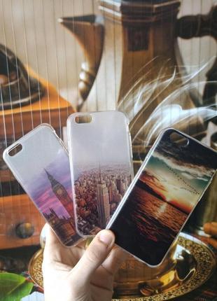 Чехлы для iPhone 6, 6S (Силикон; в ассортименте)