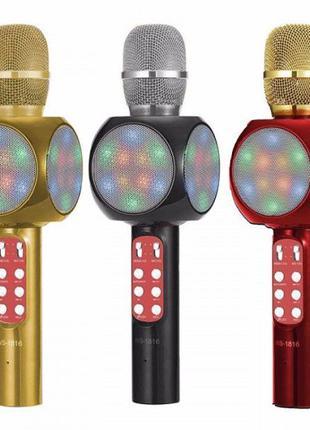 Беспроводной микрофон караоке WSTER WS-1816 Bluetooth микрофон...
