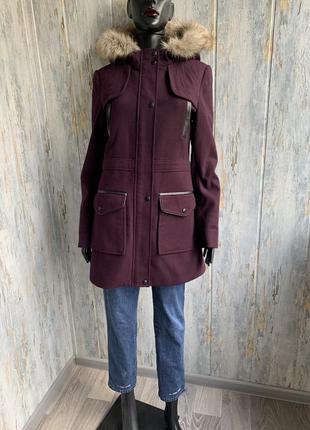 Трендовая куртка-пальто цвета марсала от dorothy perkins