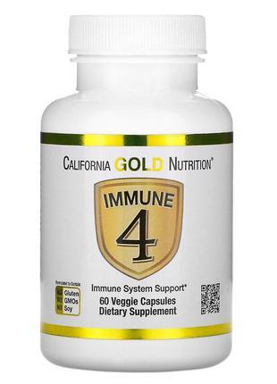 Immune4, Витамин С, Витамин D, Цинк и Селен 60 капсул