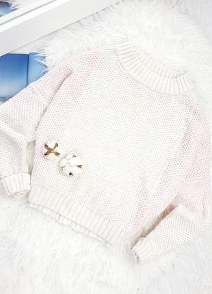 Пудровый свитер оверсайз