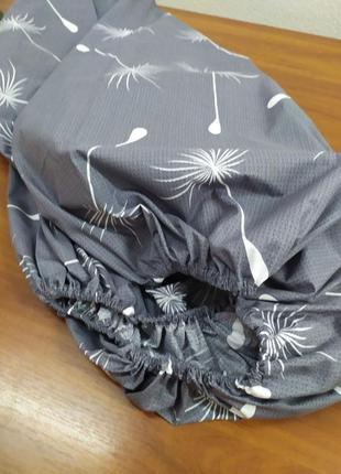 Простынь на резинке одуванчики в наличии все размеры бязь голд