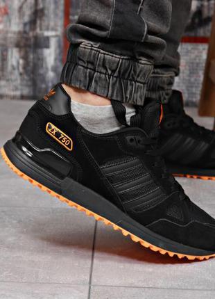 Кроссовки мужские 18163  adidas zx 750, черные