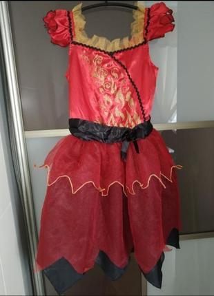 """Карнавальный костюм на хэллоуин, новый год, """"королева огня"""" дя..."""