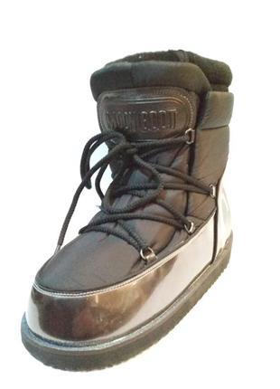Черные луноходы moon boot gucci