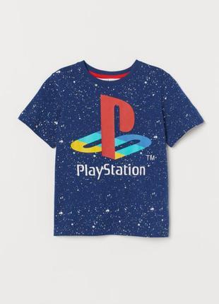Новая футболка для мальчика h&m 110-116 play station