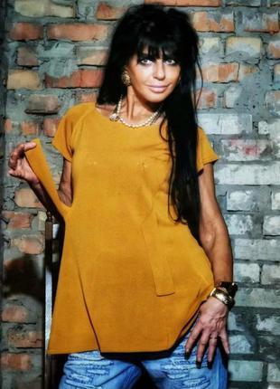 Блуза туника футболка bitte kai rand из вискозы коттон хлопок ...