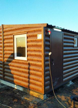 Баня-домик из двух модулей 30м.кв.