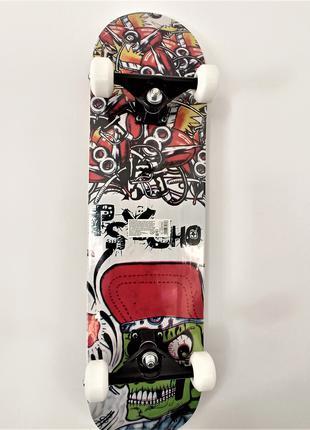 Скейтборд, колеса PU d = 5,5 cм, дерево, ABEC-7, підвіска скейта