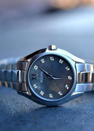 Цена дня! бриллианты. женские часы с бриллиантами bulova.