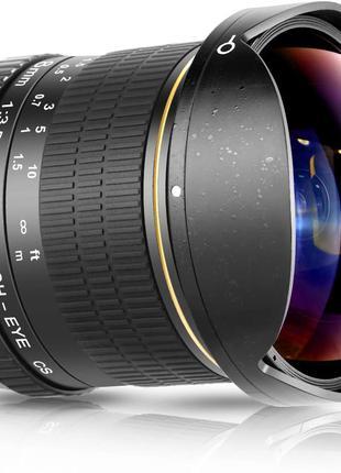 Асферический HD объектив «рыбий глаз» Neewer  8 мм f/3,5 для Niko