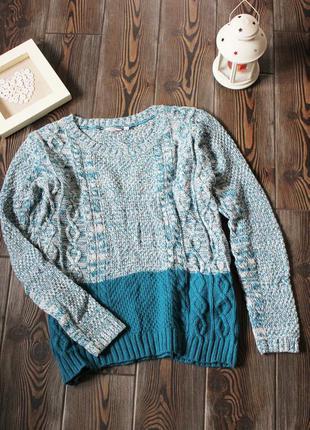 Вязаный свитер с косами свободного кроя