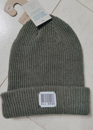 Шапка на ребенка, подростковая шапка  цвета хаки